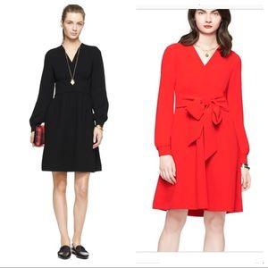 Kate Spade Tie Back Dress Sz 4 Black